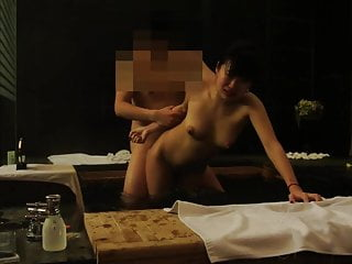Chinese girl major orgasm in spa