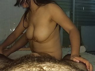 Asian huge boobs massage girl has no idea about massage 5