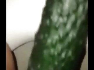 Chinese XiaoShimin masturbate with cucumber