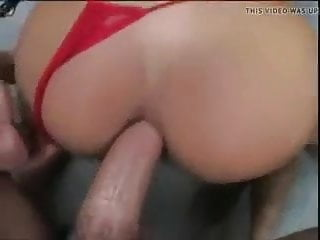 Tight Anal Hole Asian Girl Red Bikini Fucked by Huge Dick