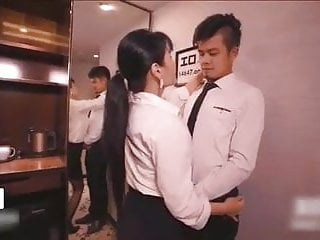Chinese Female Boss And Employee