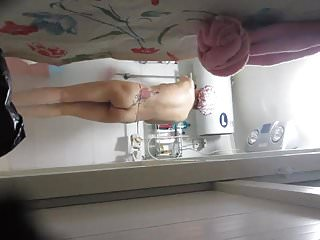 Friend's roomate shower voyeur