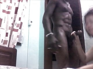 hongkonger bobo sucking big black african cock