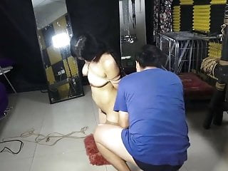 Busty Chinese Model XiaoRan - Bondage Shoot BTS 01