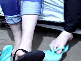 Asian sisters foot fetish