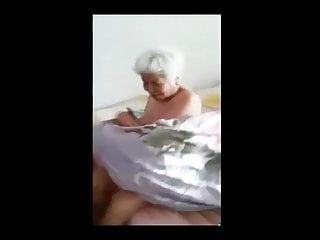 Blonde Asian Granny