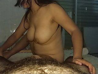 Asian huge boobs massage girl has no idea about massage 5