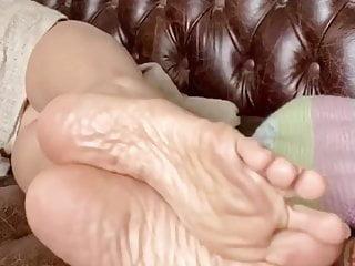 Asian mature feet soles