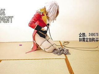 Chinese cosplay and self bondage