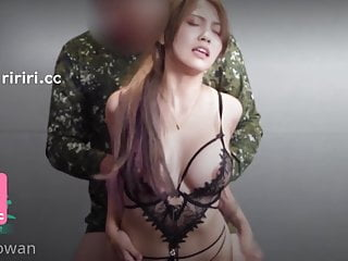Sexy army girl has sex with her boy before leaving the island