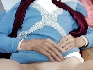 Lovely 90yo granny shows her pussy