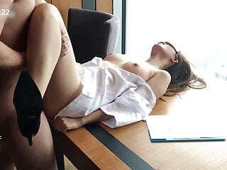 Hot Chinese secretary gets banged during business trip