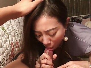 Expert cock sucking Chinese slut is extremely satisfying