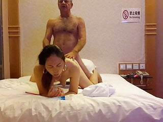 Tang takes some cock doggy style