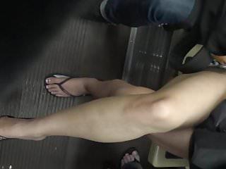 Two asian crossed legs